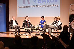 Podiumsdiskussion im Haus der Geschichte; Foto: HS Bund