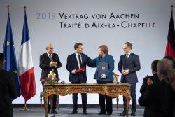 Unterzeichnung Aachener Vertrag 2019, Foto: Bundesregierung/ Guido Bergmann